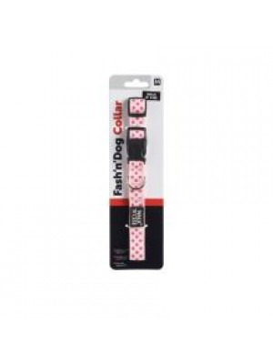 WRC PINK DOT COLLAR MED